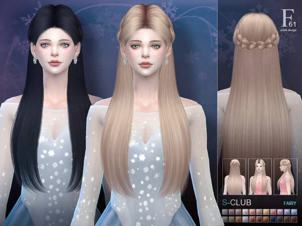 The Sims Resource: Hair n61 Fairy for Sims 4