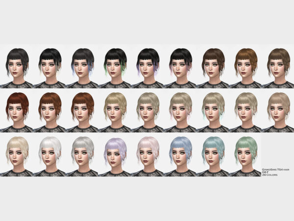 The Sims Resource: Hair G8 by Daisy Sims for Sims 4