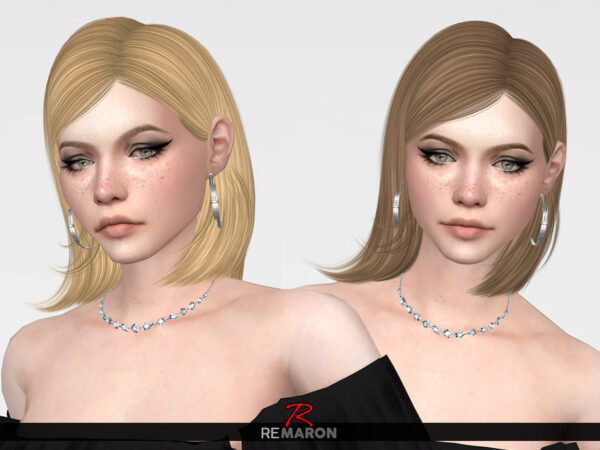 The Sims Resource: Sophia Hair Retextured by remaron for Sims 4