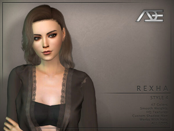 The Sims Resource: Rexha Hair Style 4 by Ade Darma for Sims 4