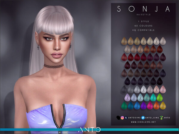 The Sims Resource: Sonja Hairstyle by Anto for Sims 4