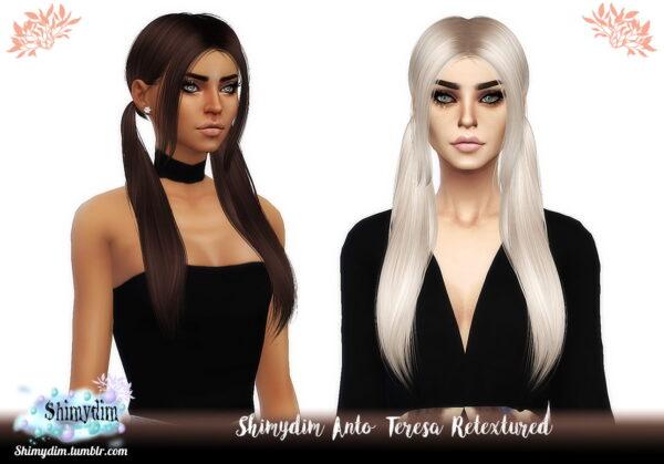 Shimydim: Anto`s Teresa Hair Retextured for Sims 4