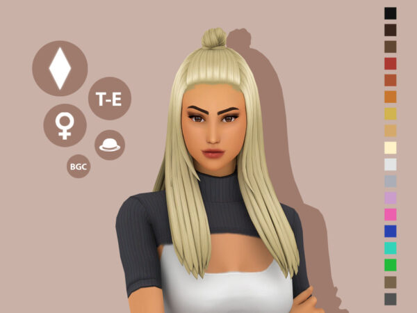 The Sims Resource: Azalea Hair by simcelebrity00 for Sims 4