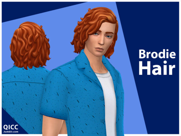 The Sims Resource: Brodie Hair by qicc for Sims 4