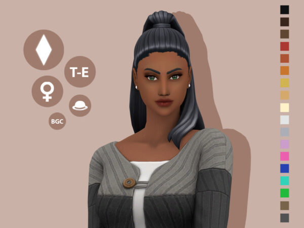 The Sims Resource: Clemency Hair by simcelebrity00 for Sims 4