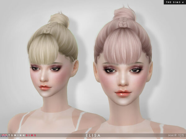 The Sims Resource: Elis hair 125 by TsminhSims for Sims 4