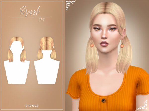 The Sims Resource: Crush Hairstyle by EnriqueS4 for Sims 4