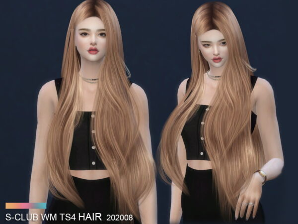 The Sims Resource: Hair 202008 by S Club for Sims 4
