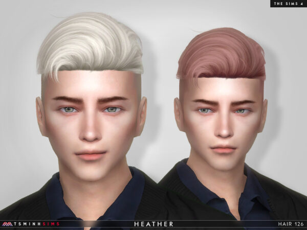 The Sims Resource: Heather Hair 126 by TsminhSims for Sims 4