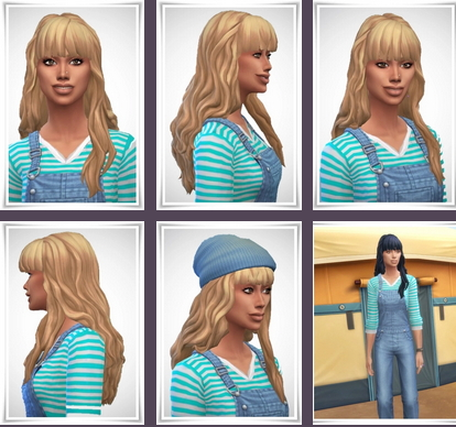 Birksches sims blog: Jenny Hair for Sims 4