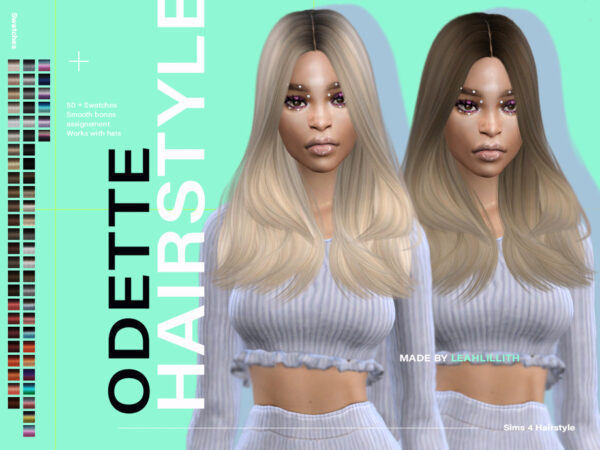 The Sims Resource: Odette Hairstyle by  LeahLillith for Sims 4