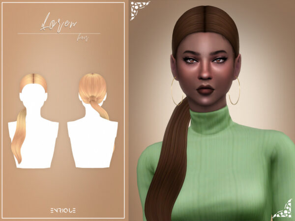 The Sims Resource: Loren Hairstyle by Enriques4 for Sims 4