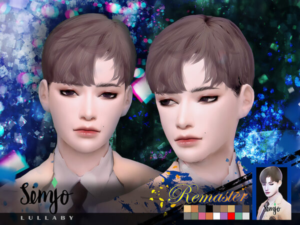 The Sims Resource: Lullaby Hair Remaster by KIMSimjo for Sims 4