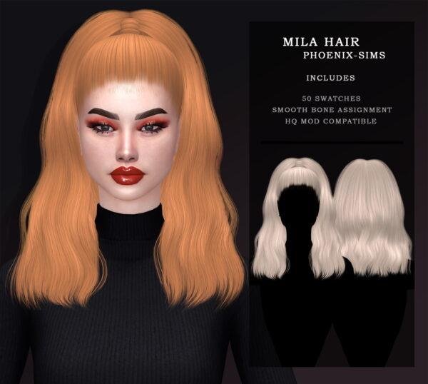 Phoenix Sims: Maura, Myriam and Mila Hair for Sims 4