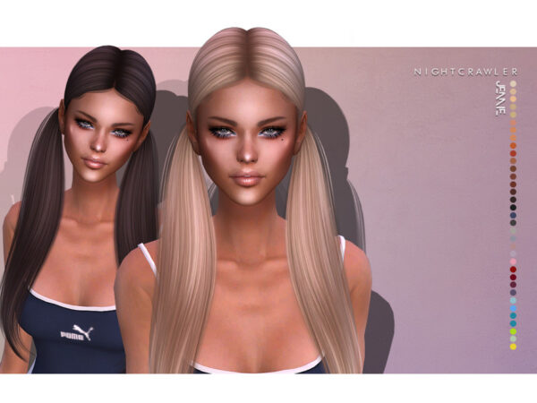 The Sims Resource: Jennie hair by Nightcrawler for Sims 4