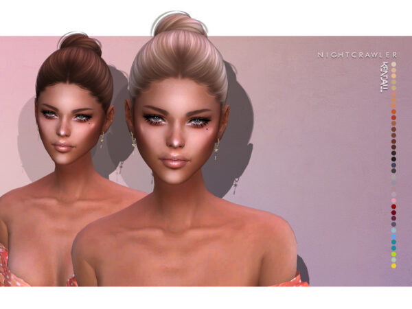 The Sims Resource: Kendall Hair by Nightcrawler for Sims 4