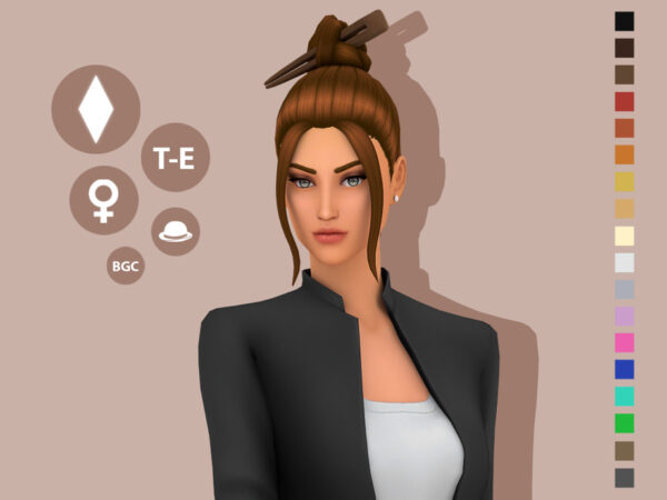 The Sims Resource: Nina Hair by simcelebrity00 for Sims 4