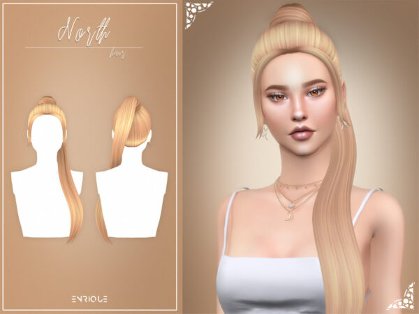The Sims Resource: North Hairstyle by Enriques4 for Sims 4