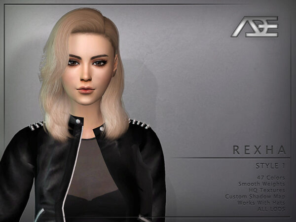 The Sims Resource: Rexha Style 1 Hair by Ade Darma for Sims 4