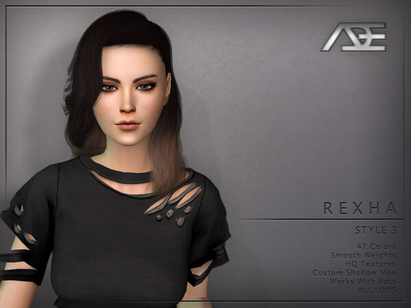 The Sims Resource: Rexha Style 3 by Ade Darma for Sims 4