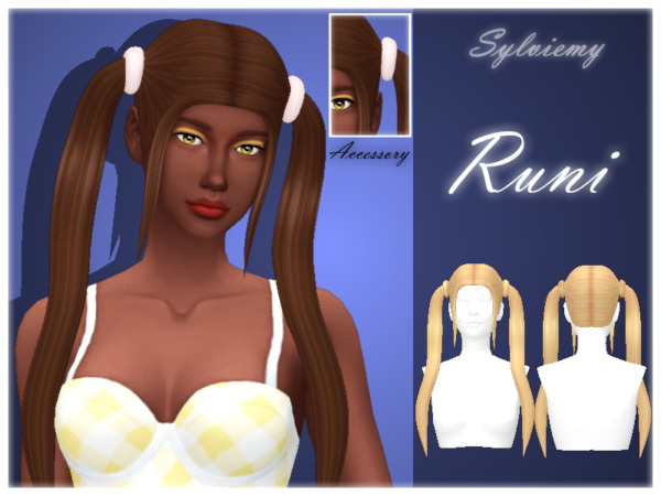The Sims Resource: Runi Hairstyle Set Recolores by Sylviemy for Sims 4