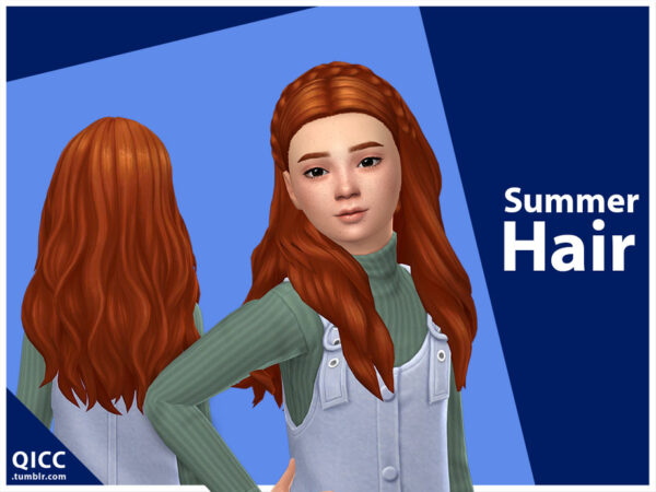 The Sims Resource: Summer Hair by qicc for Sims 4