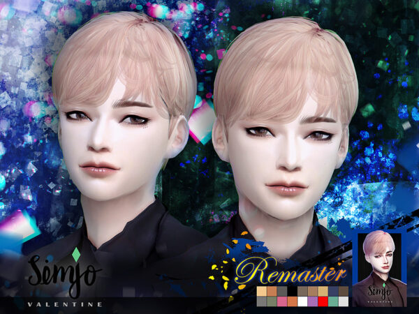 The Sims Resource: Valentine Hair Remaster by KIMSimjo for Sims 4