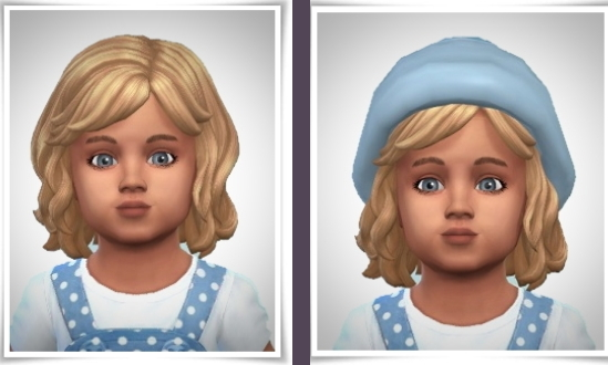 Birksches sims blog: Vi ToddlerHair for Sims 4