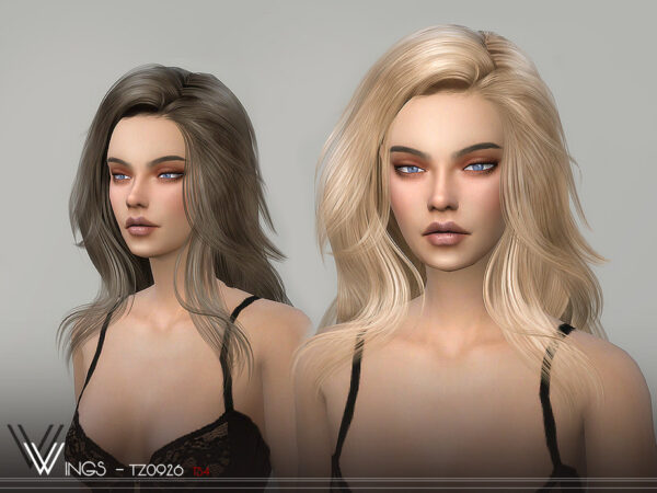 The Sims Resource: WINGS TZ0926 hair for Sims 4