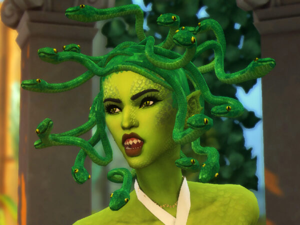The Sims Resource: Medusa Hair by feralpoodles for Sims 4
