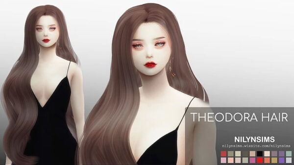 Nilyn Sims 4: Theodora Hairstyle for Sims 4