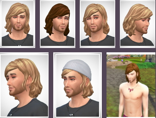 Birksches sims blog: Kris Hairstyle for Sims 4