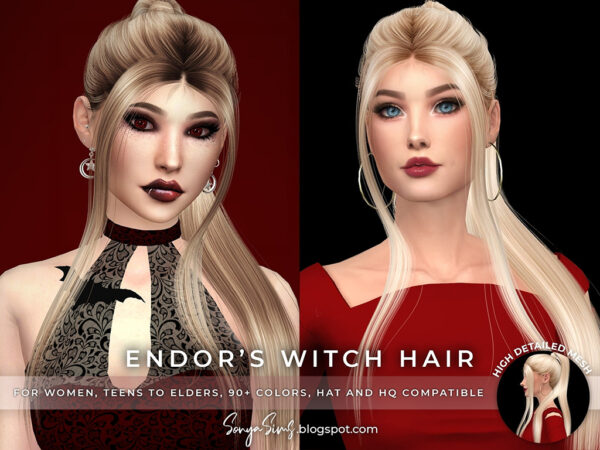 Sonya Sims: Collection Hairstyle for Sims 4