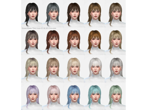 The Sims Resource: Hair G16 by Daisy Sims for Sims 4