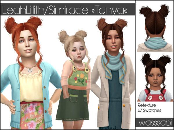 Wasssabi Sims: LeahLillith`s Tanya Hair retextured for Sims 4