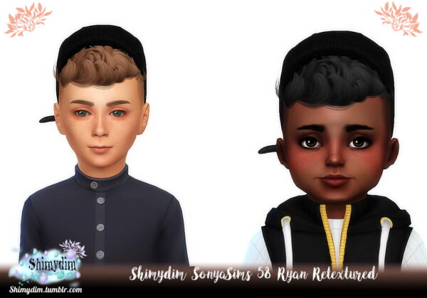 Shimydim: Sonya`s Ryan Hair Retexture for Sims 4