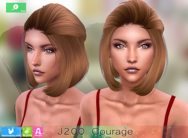 NewSea: J200 Courage Free Hairstyle for Sims 4