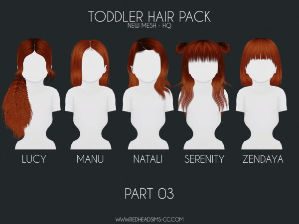Coupure Electrique: Kids and Todd Hair Pack for Sims 4