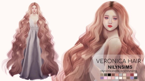 Nilyn Sims 4: Veronica hairstyle for Sims 4