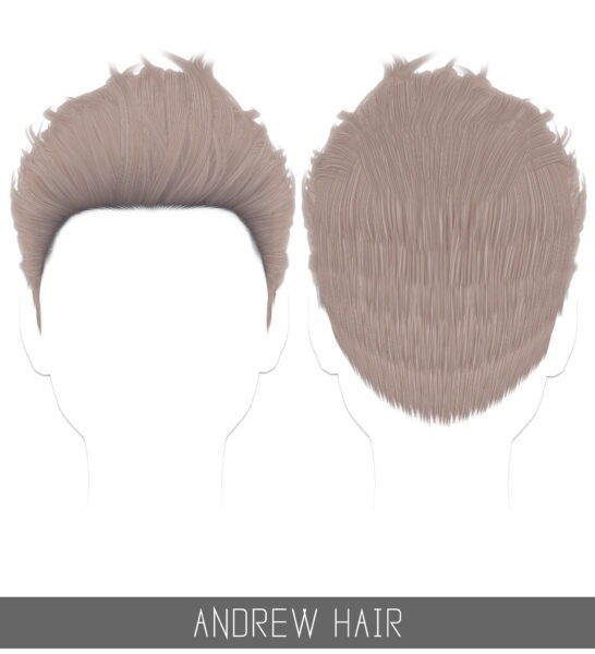 Simpliciaty: Andrew hair for Sims 4