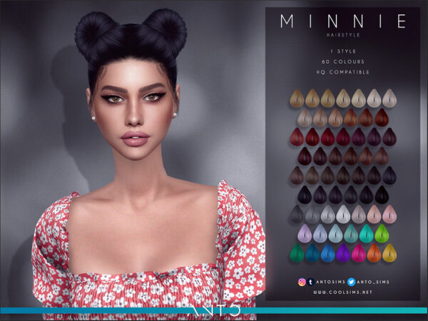 The Sims Resource: Minnie Hair by Anto for Sims 4