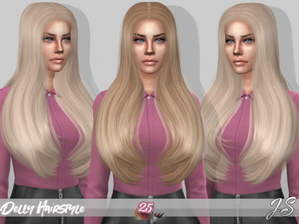 The Sims Resource: Delly Hairstyle by JavaSims for Sims 4