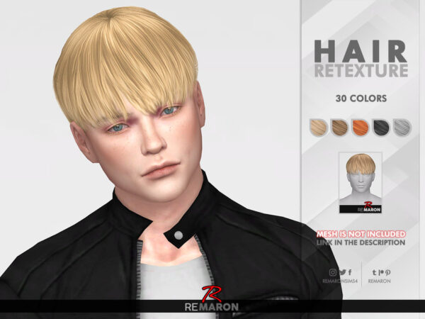 The Sims Resource: Gelato Hair Retextured by remaron for Sims 4