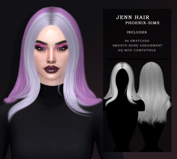 Phoenix Sims: Jenn, Maribel and Alice hair With Scarf for Sims 4