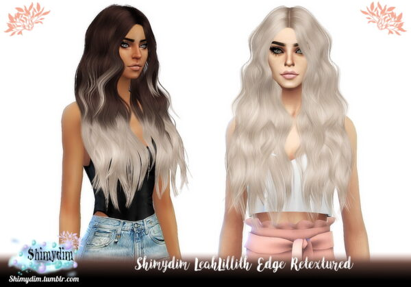 Shimydim: LeahLillith`s Edge Hair Retexture for Sims 4