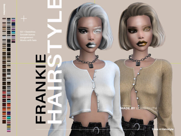 The Sims Resource: Frankie Hairstyle by LeahLillith for Sims 4