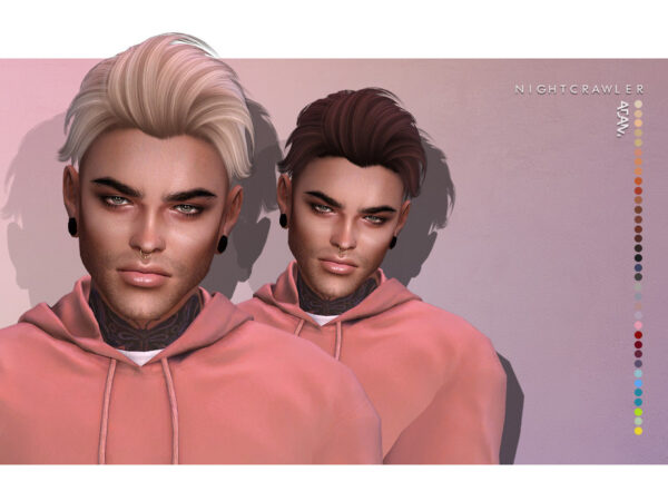 The Sims Resource: Adam hair by Nightcrawler for Sims 4