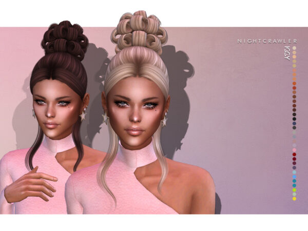 The Sims Resource: Iggy Hair by Nightcrawler for Sims 4