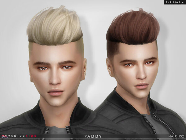 The Sims Resource: Paddy Hair 132 by TsminhSims for Sims 4