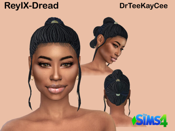 The Sims Resource: ReyIX Dreads by drteekaycee for Sims 4
